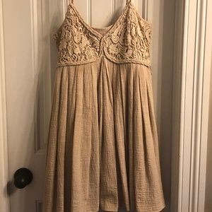 Adorable wheat colored sundress